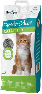 BreederCelect cat litter 10 litres dust free grey
