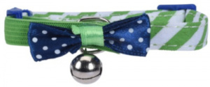 Cats Collection cat collar with bell 31 cm nylon green