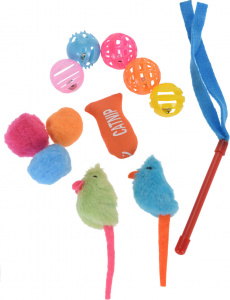 Cats Collection jouets pour chats polyester/catmint 12 pièces