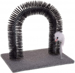 Cats Collection scratching post 25 x 25 x 34 cm steel/sisal black