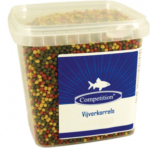 Competition pond fish pellets 15 kg green/yellow/red