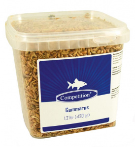 Competition pond fish food Gammarus 1,2 liter brown