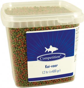 Competition pond fish food Koi 1,2 liters/400 grams green/brown