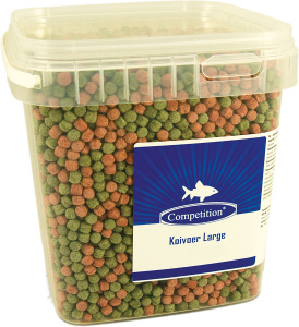 Competition pond fish food Koi Large 400 grams green/brown