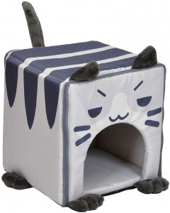 Croci cat house Catmania 35 x 35 x 50 cm polyester grey/blue