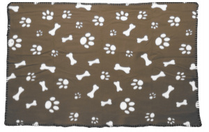 Dogs Collection dog blanket 77 x 55 cm fleece olive green