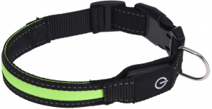 Dogs Collection collier chien led 34-41 cm nylon vert