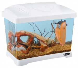 Ferplast aquarium Capri Junior 41 x 34 cm 21 liter wit 3-delig