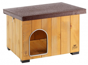 Ferplast doghouse Baita 56 x 46,5 cm wood natural/brown
