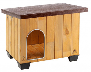Ferplast doghouse Baita 67 x 53 cm wood natural/brown