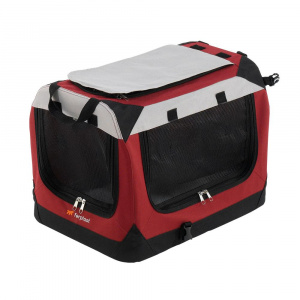 Ferplast draagbare kennel Holiday 49 x 34 x 34 cm nylon rood