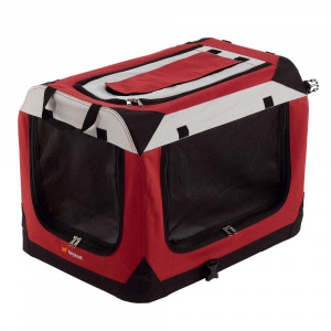 Ferplast draagbare kennel Holiday 70 x 52 x 52 cm nylon rood