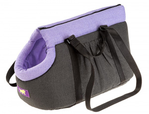 Ferplast animal carrier bag Borsello 35 cm cotton purple/grey