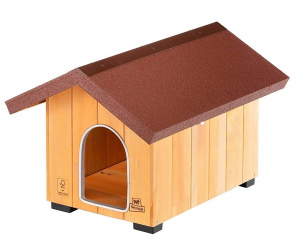 Ferplast doghouse Domus mini 49 x 64 cm wood natural/brown