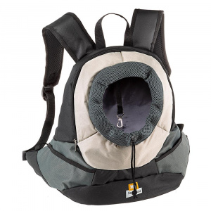 Ferplast kangoo dog backpack 37 x 16 cm nylon black/grey