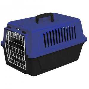 Ferplast cat and dog basket 41,5 x 28 cm black/blue