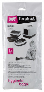 Ferplast cat litter bags 70 x 40 cm transparent 12 pieces