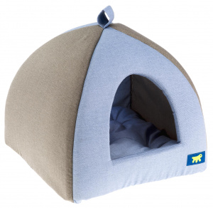 Ferplast cat house 39 x 36 cm cotton blue/grey