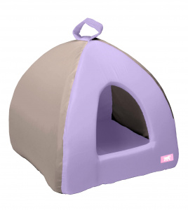 Ferplast cat house 39 x 36 cm cotton purple/grey
