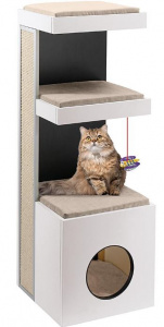 Ferplast scratching post Tiger 40 x 115 cm wood/sisal white/beige