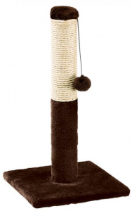 Ferplast scratching post with ball 29 x 53 cm sisal/purple brown/beige