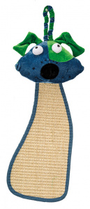 Ferplast scratching post with dog head 56 x 20 cm sisal blue