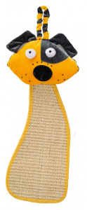 Ferplast scratching post with dog head 56 x 20 cm sisal yellow