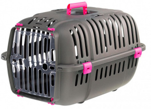 Ferplast travel basket Jet 57 x 37 cm grey/pink