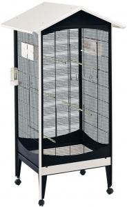 Ferplast birdcage Brio Medium 85 x 162 cm steel black/white