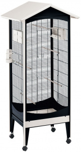 Ferplast birdcage Brio Mini 73,5 x 160 cm steel black/white