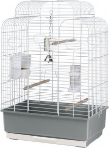 Ferplast birdcage Gala 50 x 30 x 75,5 cm steel grey/white