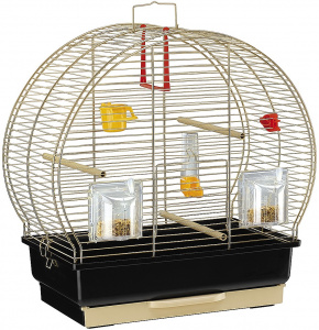 Ferplast birdcage Luna-2 steel 44,5 x 25 x 45,5 cm black/gold