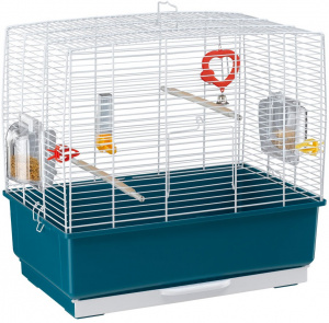 Ferplast birdcage Record-3 steel 49 x 30 x 48,5 cm blue/white