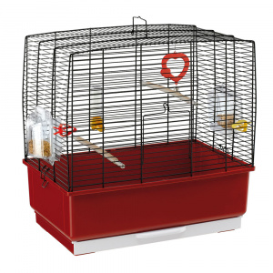 Ferplast birdcage Record-3 steel 49 x 30 x 48,5 cm red/black