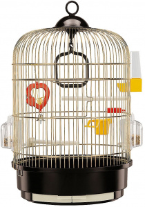 Ferplast birdcage Regina 32,5 x 49 cm steel black/gold