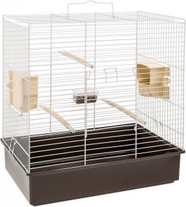 Ferplast birdcage Sonia 61,5 x 40 x 65 cm steel brown/white