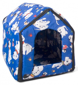 Gerimport doghouse 44 x 40 x 40 cm polyester blue