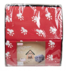 Gerimport doghouse 44 x 40 x 40 cm polyester red