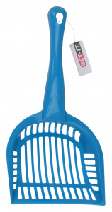 Get-It cat scoop 28 cm polypropylene blue