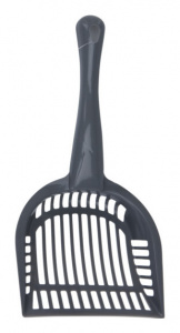 Get-It cat scoop 28 cm polypropylene grey