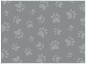 LitterLocker dispenser cover Paws 15,5 x 20,5 cm cotton grey