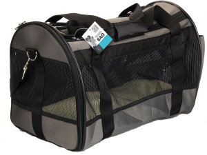 M-Pets dierendraagtas 46 x 28 x 31 cm polyester grijs