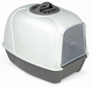 MPS litter box with filter Pixi 52 x 39 cm grey