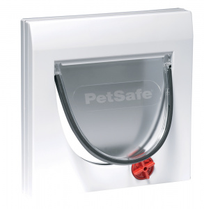 PetSafe katten-hondenluik 4Way 22,3 x 16 cm wit