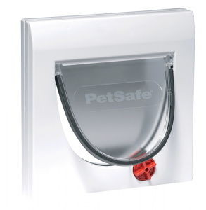 PetSafe katten-hondenluik tunnel 4Way 22,3 x 16 cm wit 2-delig