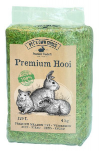 Premium hay rodents 4 kg light brown