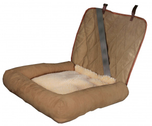 Solvit dog cushion Car Cuddler 50 x 63 cm polyester/suede brown