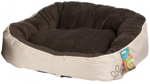 TOM dog basket 52 x 50 cm cotton/wool dark brown