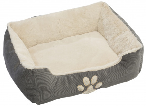 TOM dog cushion 60 x 48 x 18 cm polyester grey