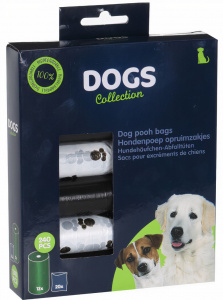 TOM poop bags dogs polyethene black 240 pieces